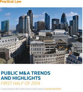 Public M&A: Trends and highlights from first half of 2014