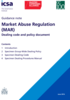 Market Abuse Regulation dealing code and policy document