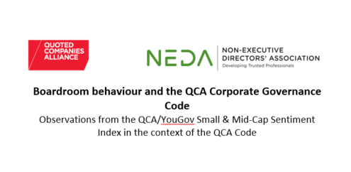 Boardroom behaviour and the QCA Corporate Governance Code